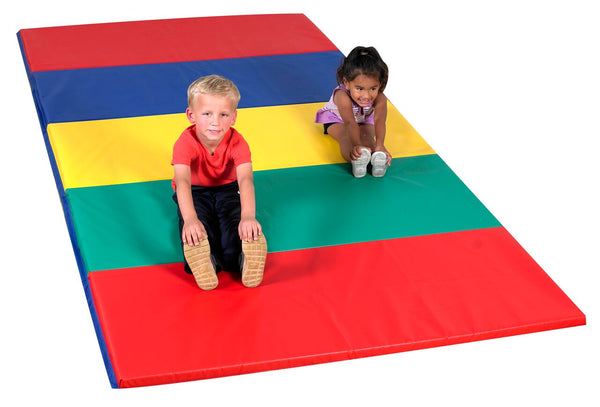 Children's Factory CF321-149 Rainbow Folding Gym Mat 5 x 10