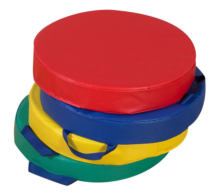 Children's Factory CF321-165 Primary Round Cushions - Set of 4
