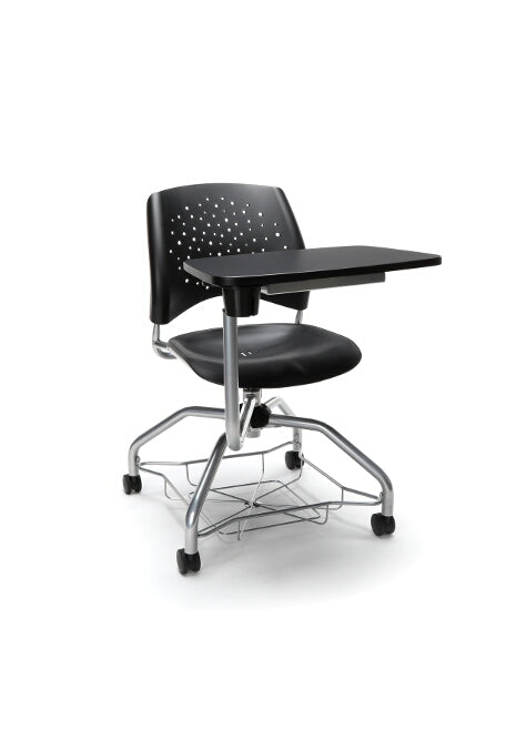 "OFM 329T-P Stars Foresee Plastic Chair with Tablet 19"" Seat Height"