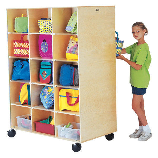 Jonti-Craft 3915JC Mobile Big Twin Storage with 30 Cubbies