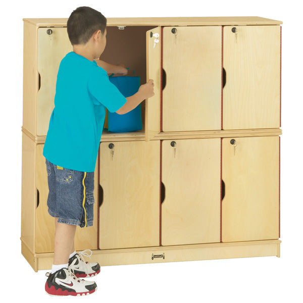 Jonti-Craft 4696JC Stacking Lockable Lockers - Double Stack