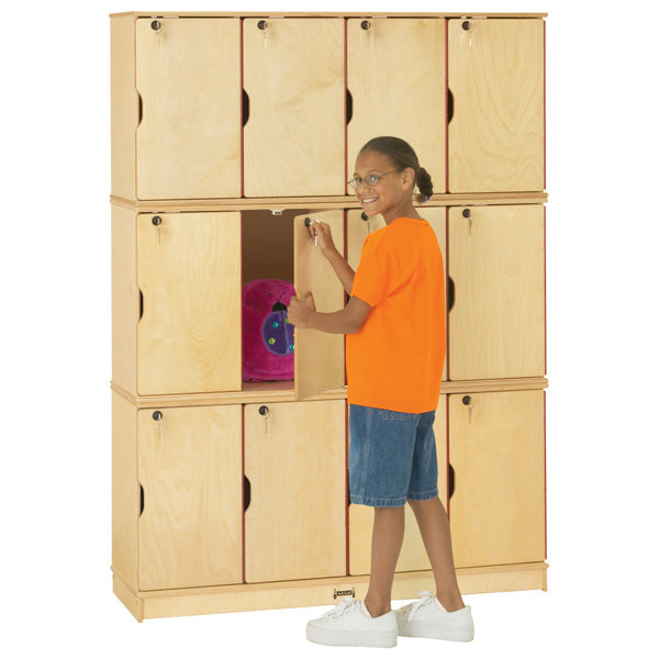 Jonti-Craft 4697JC Stacking Lockable Lockers - Triple Stack