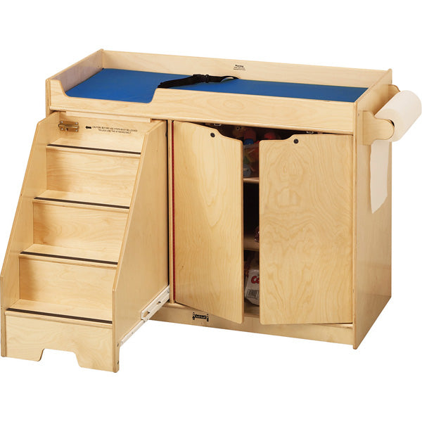 Jonti-Craft 5131JC Changing Table with Stairs on Left