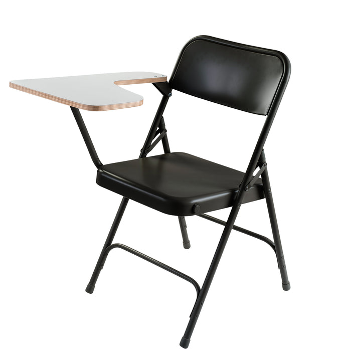National Public Seating 5200 Series Premium Steel Folding Chair with Tablet Arm - Pack of 2