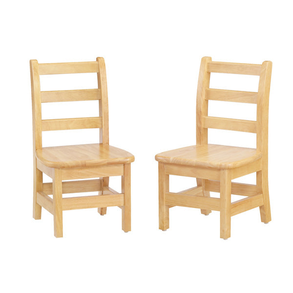 "Jonti-Craft 5912JC2 KYDZ Ladderback Chair 12"" Seat Height - Set of 2"
