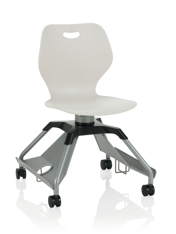 KI Learn2 L2WNP/CAR Intellect Wave Mobile Chair with Cup Holders and Accessory Rack