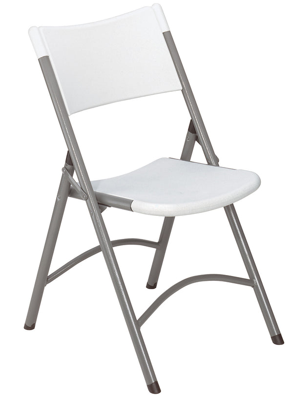 National Public Seating 600 Series Blow Molded Plastic Folding Chair - Pack of 4
