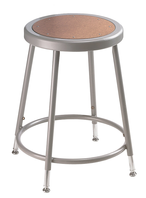National Public Seating 6200H Series Round Hardboard Science Lab Stool Adjustable Height