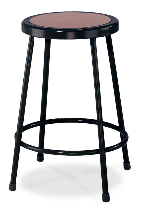 National Public Seating 6224-10 Series Round Hardboard Science Lab Stool Fixed Height
