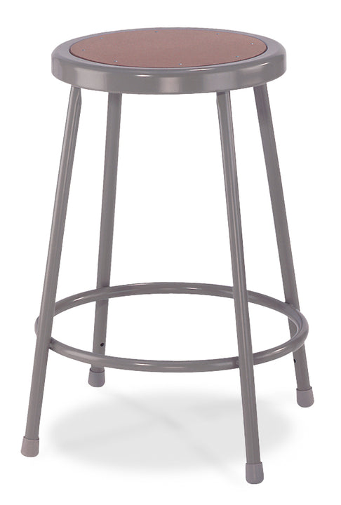 National Public Seating 6224 Series Round Hardboard Science Lab Stool Fixed Height