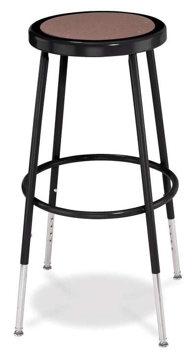 National Public Seating 6224H-10 Series Round Hardboard Science Lab Stool Adjustable Height