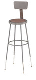 National Public Seating 6230HB Series Round Hardboard Science Lab Stool With Backrest Adjustable Height