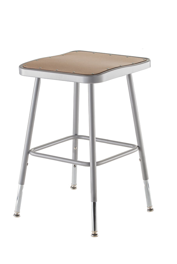 National Public Seating 6300H Series Square Hardboard Science Lab Stool Adjustable Height