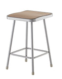 National Public Seating 6324 Series Square Hardboard Science Lab Stool Fixed Height