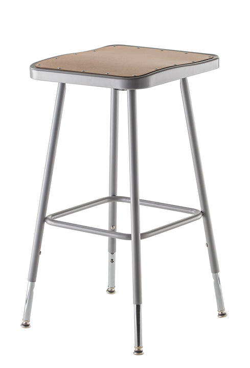 National Public Seating 6324H Series Square Hardboard Science Lab Stool Adjustable Height