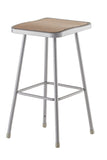 National Public Seating 6330 Series Square Hardboard Science Lab Stool Fixed Height