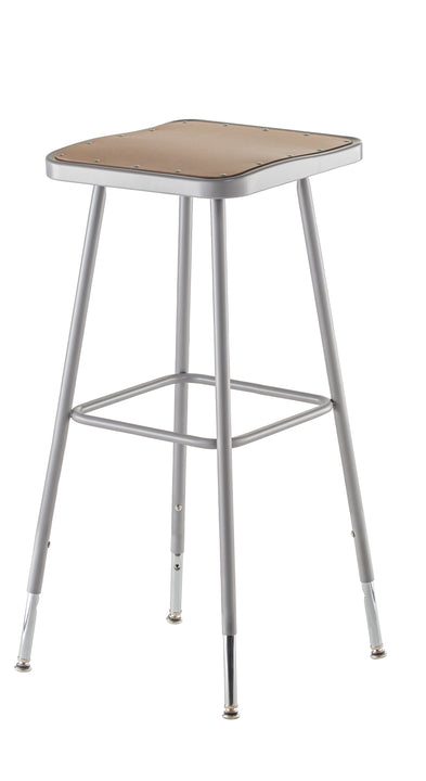 National Public Seating 6330H Series Square Hardboard Science Lab Stool Adjustable Height