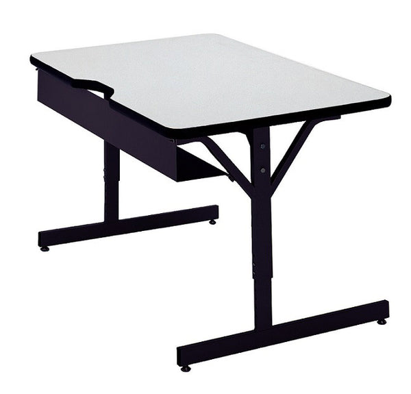 Scholar Craft FS8793072 Adjustable Height Computer Table 30 x 72 - Quick Ship