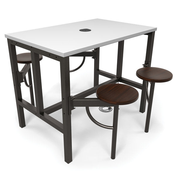 OFM 9004 Endure Series Standing Height Table with 4 Seats and Power