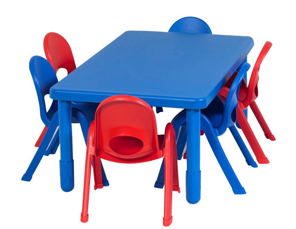 Angeles AB705206 MyValue Preschool Rectangle Table and 6 Chair Set