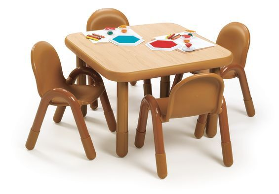 f481243bf94a Angeles AB74112 Baseline® Toddler Square Table and 4 Chair Set