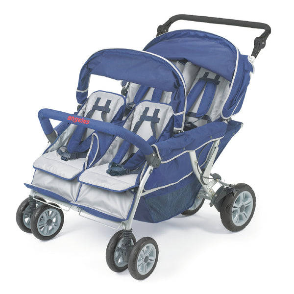 Angeles AFB6600 SureStop Folding Commercial Bye-Bye Stroller - 4 Passenger