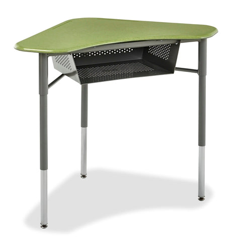 Alumni T-BOOM-BB-HP Boomerang Collaborative Study Desk with Perforated Book BoxAlumni T-BOOM-BB-HPL Boomerang Collaborative Laminate Study Desk with Perforated Book Box