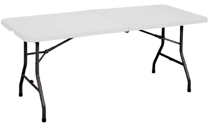 Correll CP3072FM-33 Light Duty Fixed Height Blow-Molded Rectangle Fold in Half Table 30 x 72