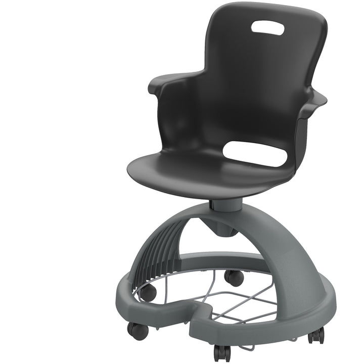 Haskell 2ES1C0 Ethos Mobile Quad Chair with Storage Base