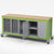 Haskell CARGO03 Explorer Series Mobile Cargo Cart with Bin and Slot Storage and Double Doors