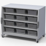 Haskell CUBBIN Explorer Series Cubby Storage Cart with Three Shelves and Two Bins