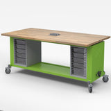 Haskell ROVER01 Makerspace Mobile Rover Table with Two Storage Bins