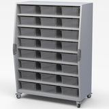 Haskell TSBIN Explorer Series Tall Storage with 8 Shelves and 24 Tote Trays