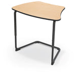 Balt 84391-B Hierarchy Adjustable Classroom Cantilever Desk with Curved Top and Black Frame