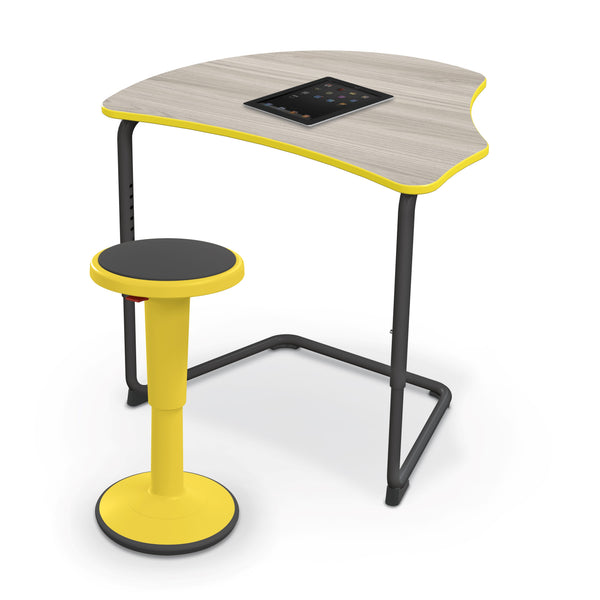 Balt 84391-A Hierarchy Adjustable Classroom Cantilever Desk with Harmony Top and Black Frame
