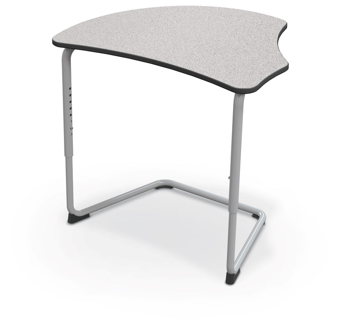Balt 84390-A Hierarchy Adjustable Classroom Cantilever Desk with Harmony Top and Platinum Frame