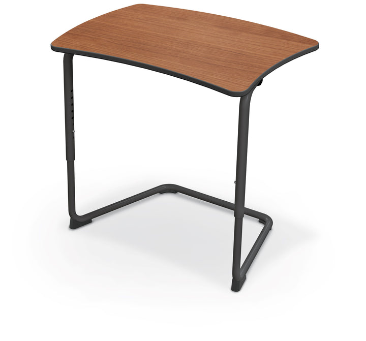 Balt 84391-C Hierarchy Adjustable Classroom Cantilever Desk with Straight Top and Black Frame