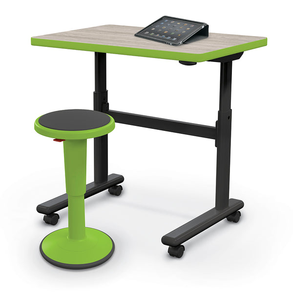 Balt 91186-C Height Adjustable Flipper Desk - Rectangle