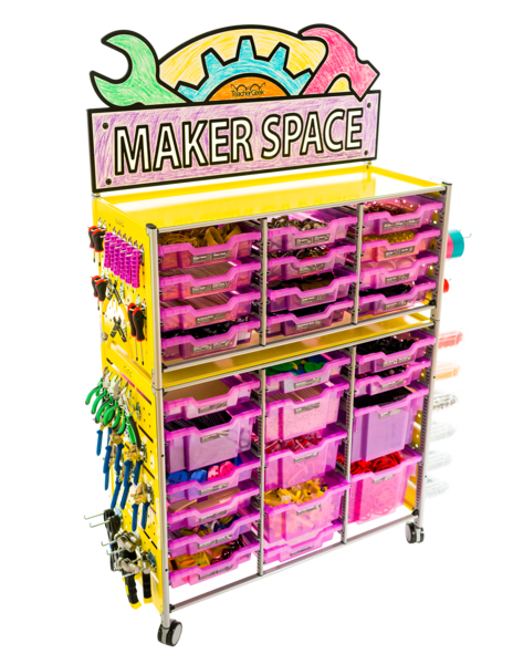 TeacherGeek 1822-81 Maker Cart 2.0 - The Ultimate STEM / STEAM / Maker Solution - FREE SHIPPING