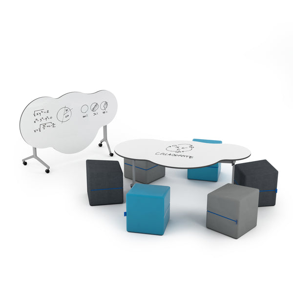 NorvaNivel CLDFLM SunshineOnACloudieDay Foldable Collection with 6 Missott Cube Ottomans