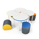 NorvaNivel CC017 Collaborative Collection - 4 Cut Away Tables with 4 Rocker Ott Seats
