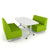 NorvaNivel SCB01 Scofa Booth Collection - 1 Pebbletree Table with 2 Scofa Booths