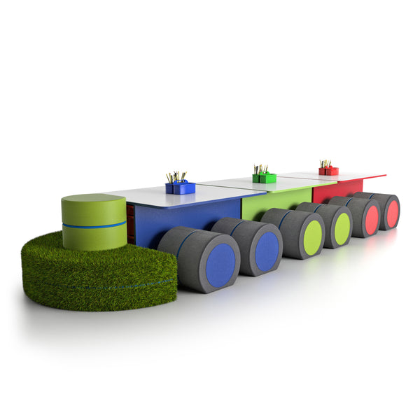 NorvaNivel SS03 STEAMSPACE T-Table Collection with Caboose