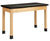 Diversified P7101K30N Plain Apron Science Table with Plastic Top 24 x 48