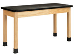 Diversified P7601K30N Plain Apron Science Table with Plastic Top 24 x 60