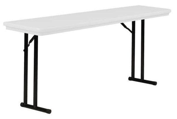 Correll R1872 Heavy Duty Fixed Height Blow-Molded Training Folding Table 18 x 72