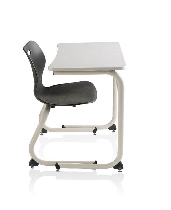 "KI IWDCH/27 Intellect Wave Cantilever Student Desk with Hard Plastic Top Fixed 27"" Height"