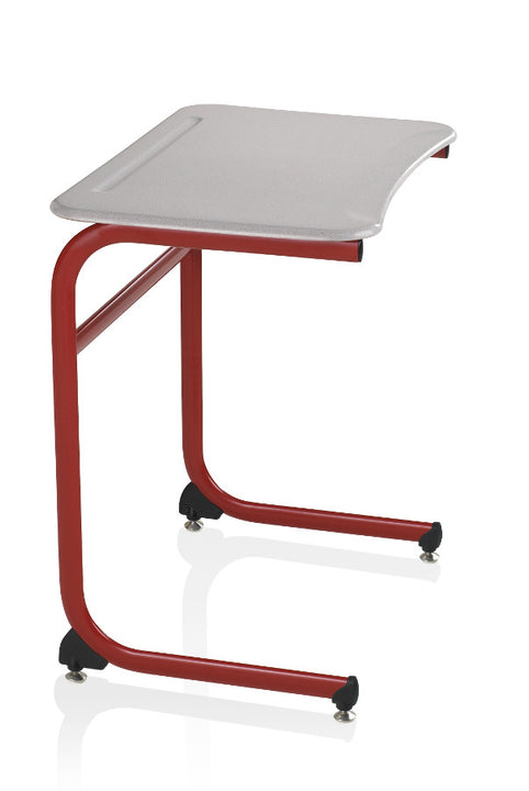 "KI IWDCH/25 Intellect Wave Cantilever Student Desk with Hard Plastic Top Fixed 25"" Height"