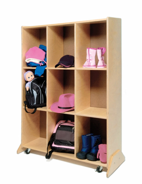 Whitney Brothers WB0809 Nine Cubby Storage and Teaching Center