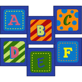 Joy Carpets 838 Alphabet Leaves Sitting Squares - Set of 26